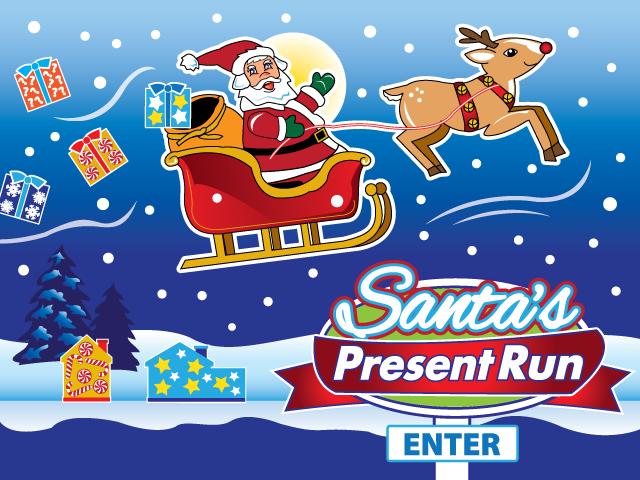 Opening Screen for Santa's Present Run