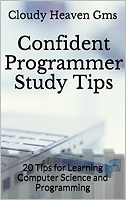 Confident Programmer Study Tips book cover - resource for computer science study tips